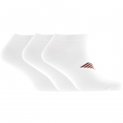 Product Image for Emporio Armani 3 Pack Trainer Socks White